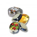 Stainless Steel Food Container with Clamp Lid